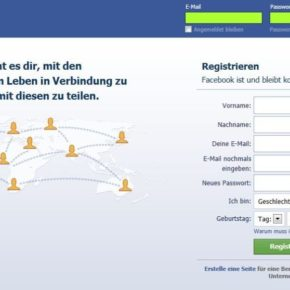 Startseite von Facebook