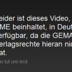 Youtube und Gema: Dieses Video ist in deinem Land verfügbar