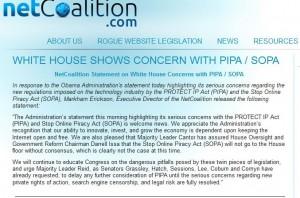 Net-Coalition - Screenshot der Startseite