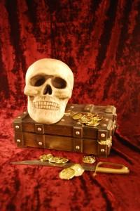 Pirate skull and booty - Free photo from Morguefile - Ein Piratenschatz im Internet?