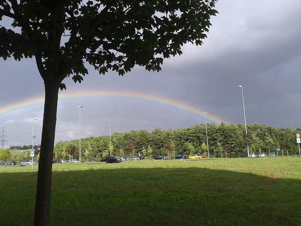 Regenbogen in Leipzig-Heiterblick - (C) Henning Uhle