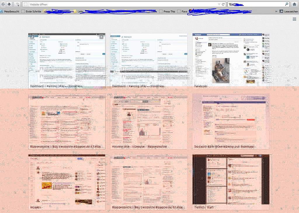 Ein neuer Tab wurde im Firefox geöffnet - Speeddial - Screenshot
