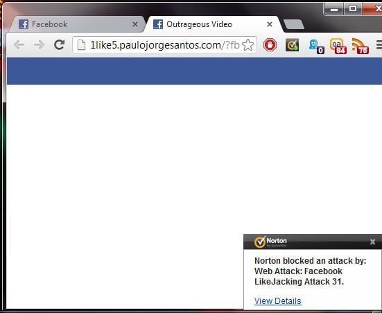 Screenshot zur Clickjacking Attacke - mit freundlicher Genehmigung Thomas Hübner