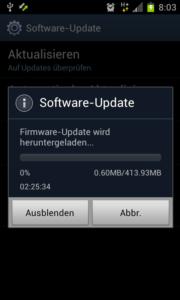 Firmware-Update für das Samsung Galaxy S2