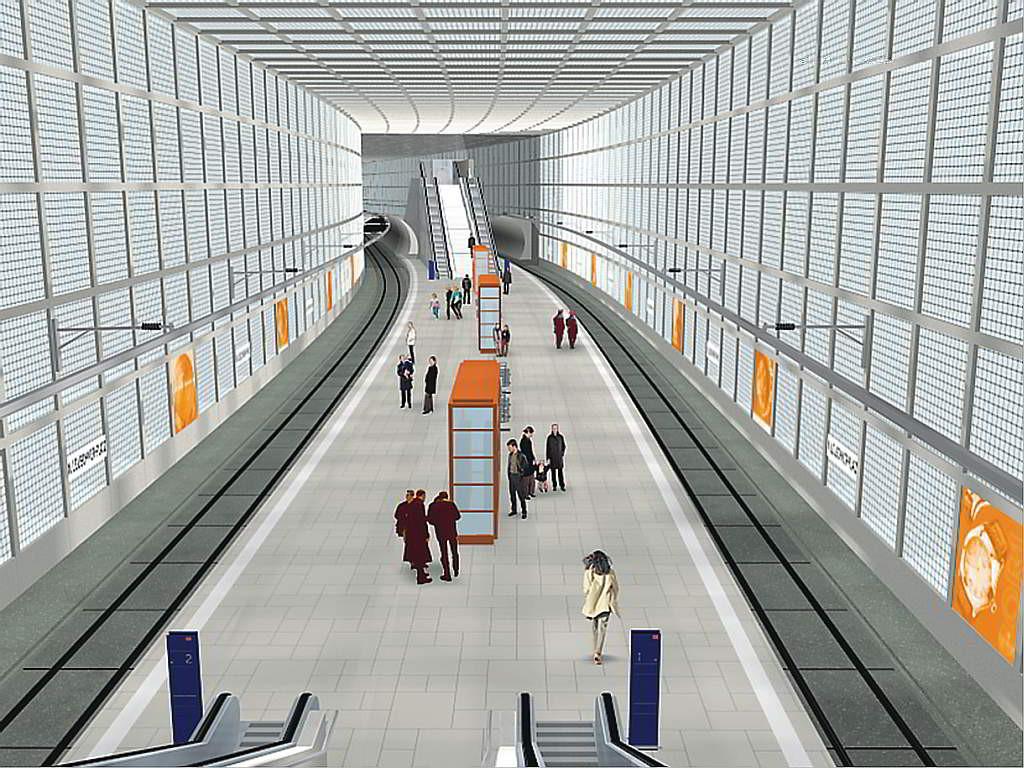 Entwurfsgrafik für die City-Tunnel-Station Wilhelm-Leuschner-Platz Leipzig - (C) Freistaat Sachsen