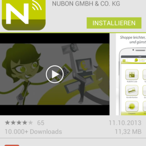 NUBON im Google Play Store - (C) Screenshot Henning Uhle