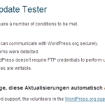 Wordpress 3.7 – automatisches Update aktiv?