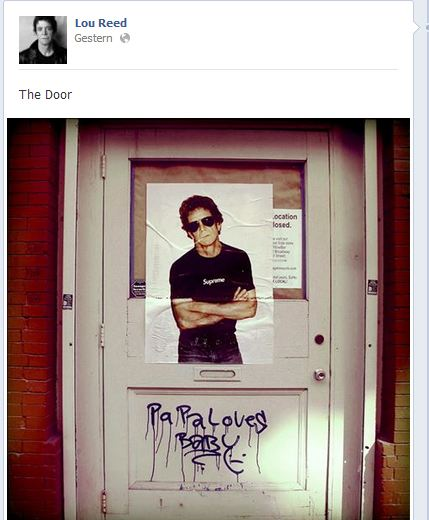 Facebook - Lou Reed - The door - Screenshot Henning Uhle