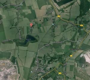 """Screenshot von Google Maps - In der unteren Hälfte sehen Sie Pegau; das """"A"""" zeigt Ihnen Peißen (Zum Vergrößern klicken)"""