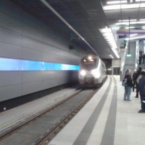 """Einfahrt eines """"Hamsters"""" ein """"Talent 2"""" im Bahnhof """"Bayerischer Bahnhof"""" - (C) Henning Uhle"""