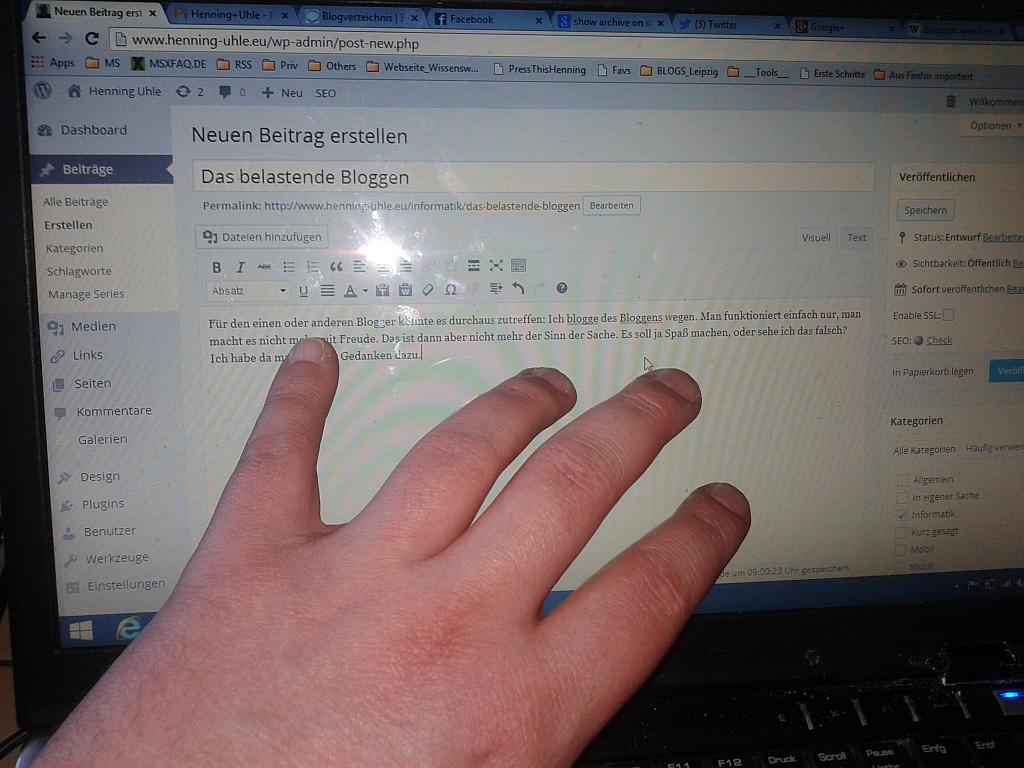 Hands on Blogging - Henning Uhle