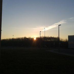 Sonnenaufgang über Leipzig-Nordost - Henning Uhle