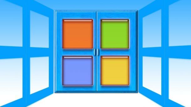 Die Fenster von Microsoft - (C) Geralt Altmann via Pixabay
