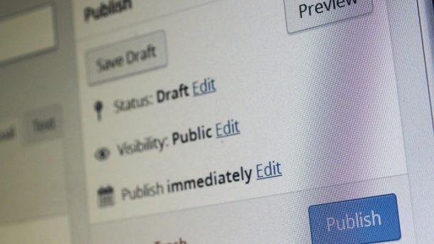 Screenshot aus WordPress - (C) pixelcreatures via pixabay.de