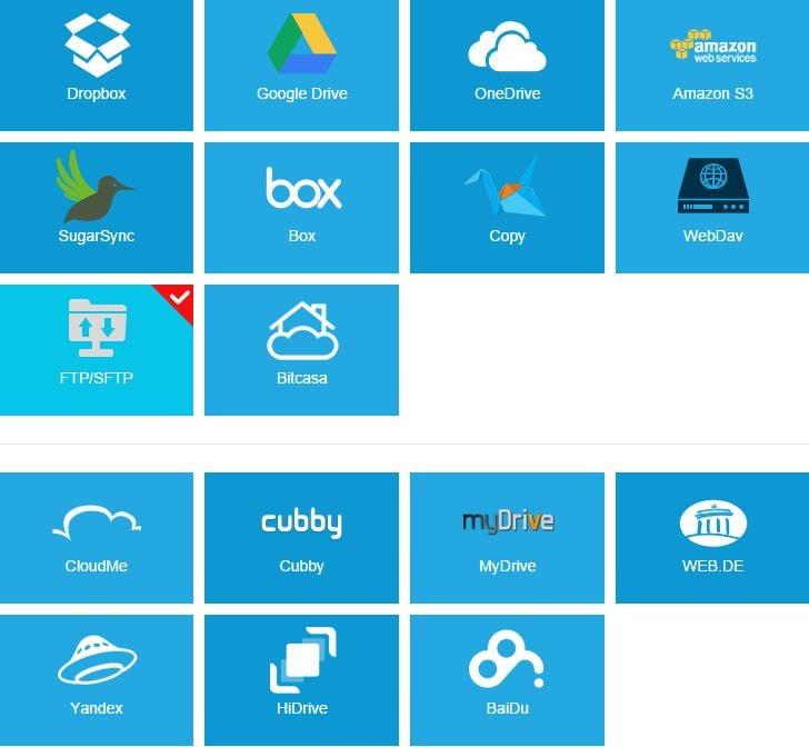 Beliebte Cloud-Dienste, die z.B. von Multcloud zentral verwaltet werden können - Screenshot Henning Uhle