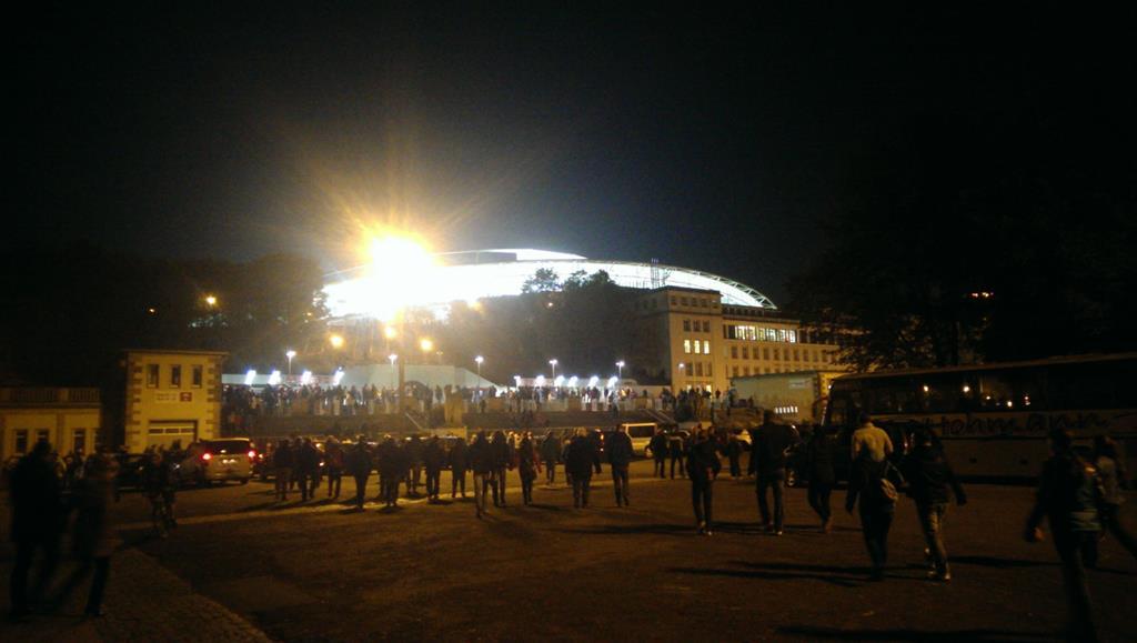 Es ist angerichtet in der Red Bull Arena - Henning Uhle