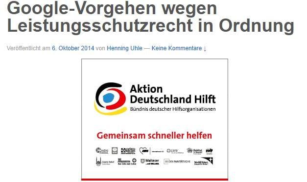 passende Werbung zum Artikel - Screenshot Henning Uhle