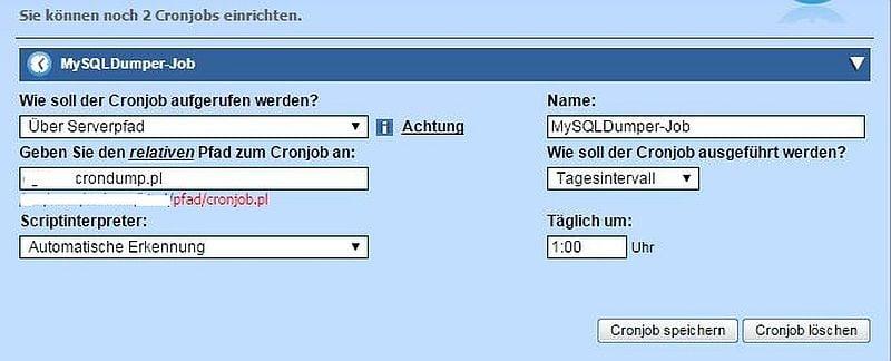 Alfahosting: Cronjob-Einrichtung