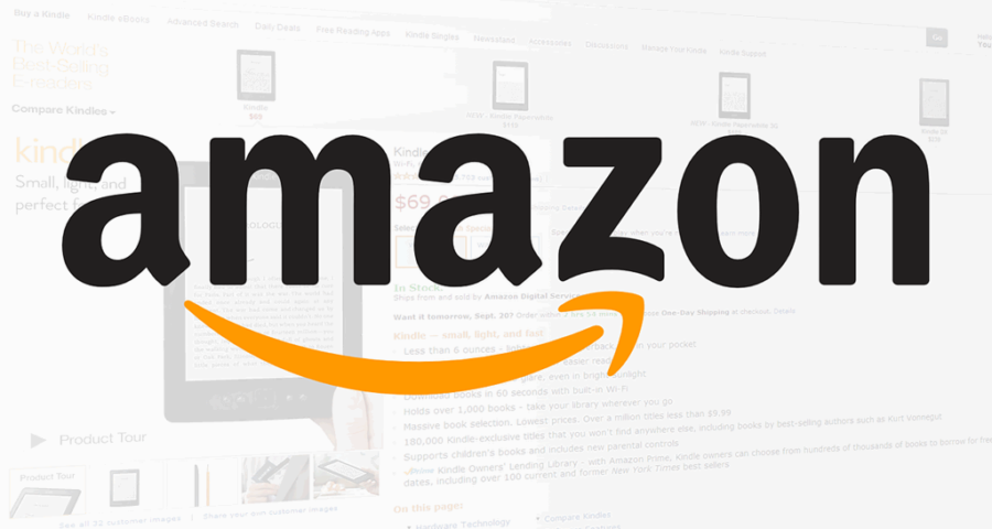 Logo von Amazon.com - Autor unbekannt - (C) Public domain via Wikimedia Commons