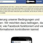 Der Tanz um die Facebook-AGB