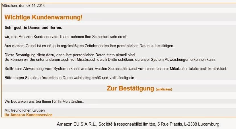 Phishing Mail - Screenshot