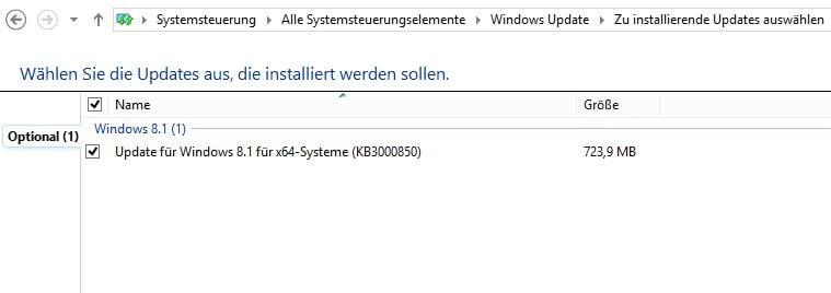 Windows optionales Update mit hoher Wichtigkeit