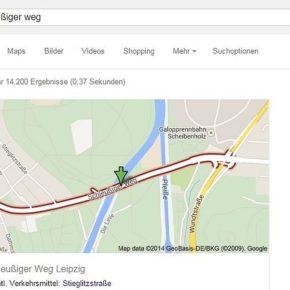 Die Paußnitzbrücke bei Google
