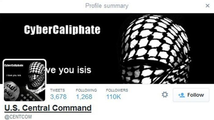 Screenshot des Twitter-Accounts @CENTCOM