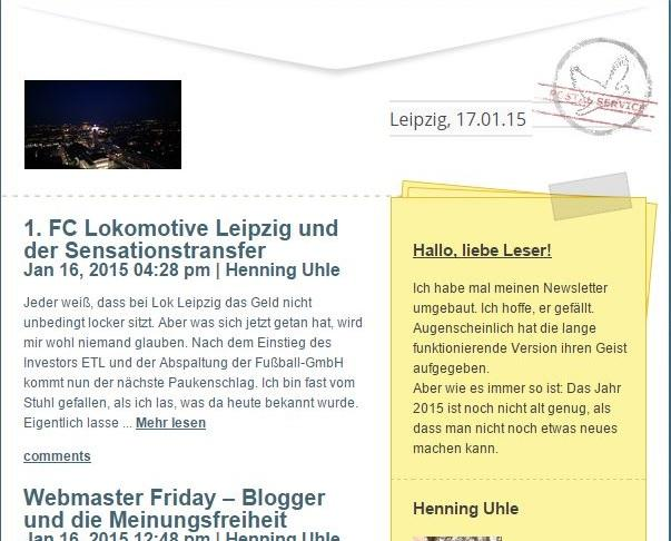 Neues Newsletter-Layout