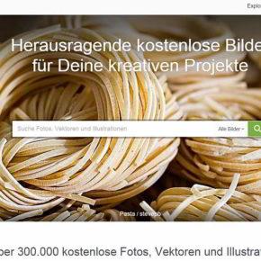 Pixabay-Startseite - Screenshot