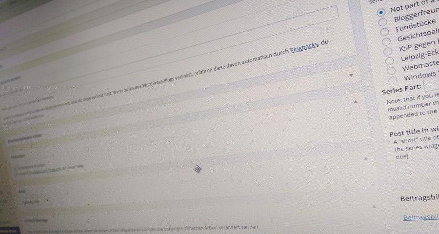 Webmaster-Sorgen
