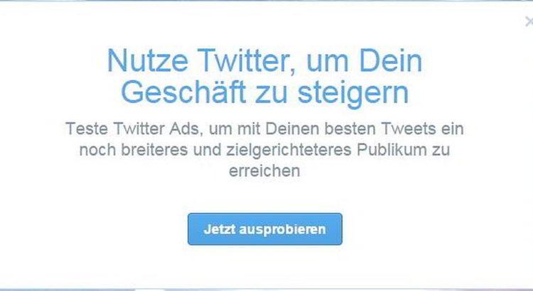 Twitter für Werbung nutzen - Screenshot