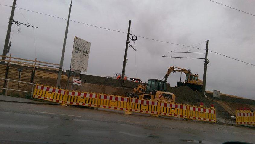 Baustelle an der Antonienstraße im Leipziger Westen
