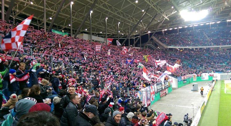 RB Leipzig Fans in der Red Bull Arena