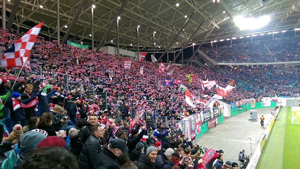 RB Leipzig Fans in der Red Bull Arena