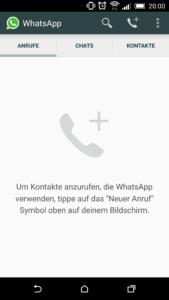 Anruffunktion von WhatsApp