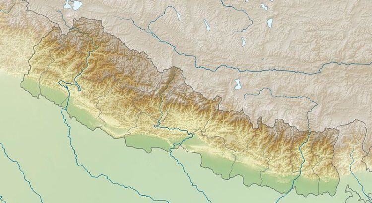Nepal im Relief - By Uwe Dedering (Own work) [CC BY-SA 3.0 (http://creativecommons.org/licenses/by-sa/3.0) or GFDL (http://www.gnu.org/copyleft/fdl.html)], via Wikimedia Commons