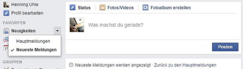 Newsfeed von Facebook