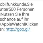Gratis-Chance auf iPhone 6 und Apple Warch per SMS