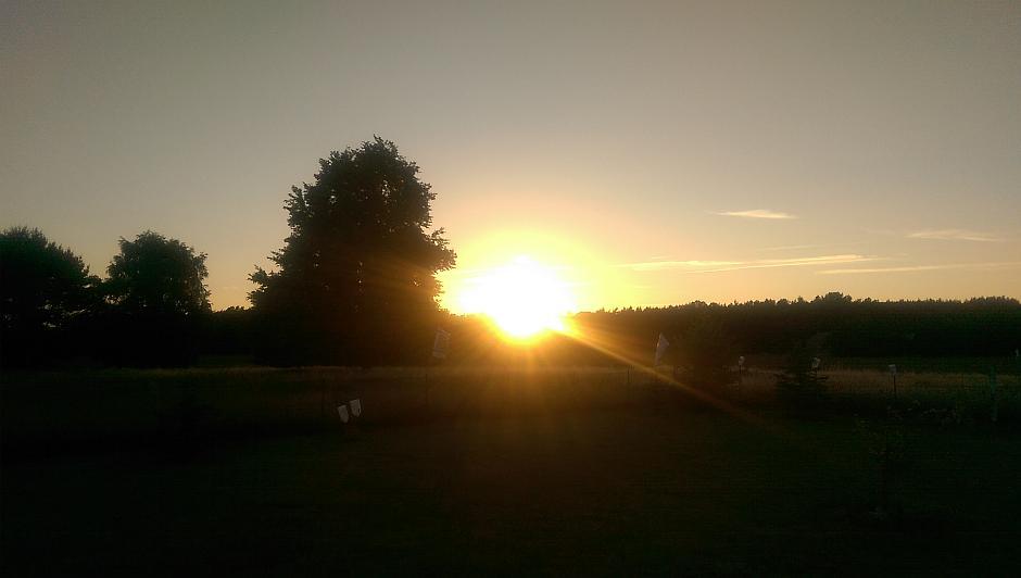 Sonnenuntergang auf dem Mohrhof