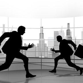 Flüchtende Geschäftsleute an der Börse - (C) Geralt Altmann CC0 via Pixabay.de