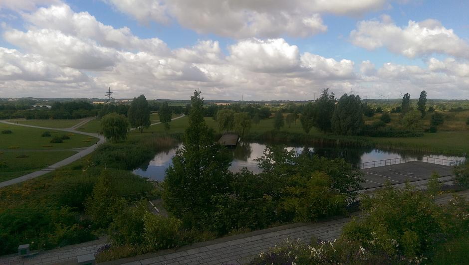 Panorama-Blick vom Parkplatz am Tierpark Wismar