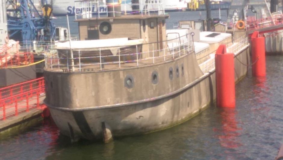 Das alte Baggerschiff im Schifffahrtsmuseum
