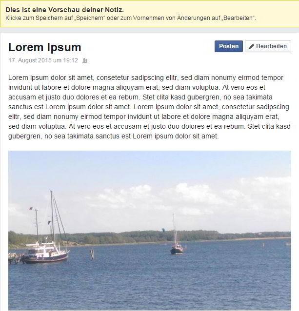 Einfacher Blog-Text mit dem Lorem-Ipsum-Beispieltext
