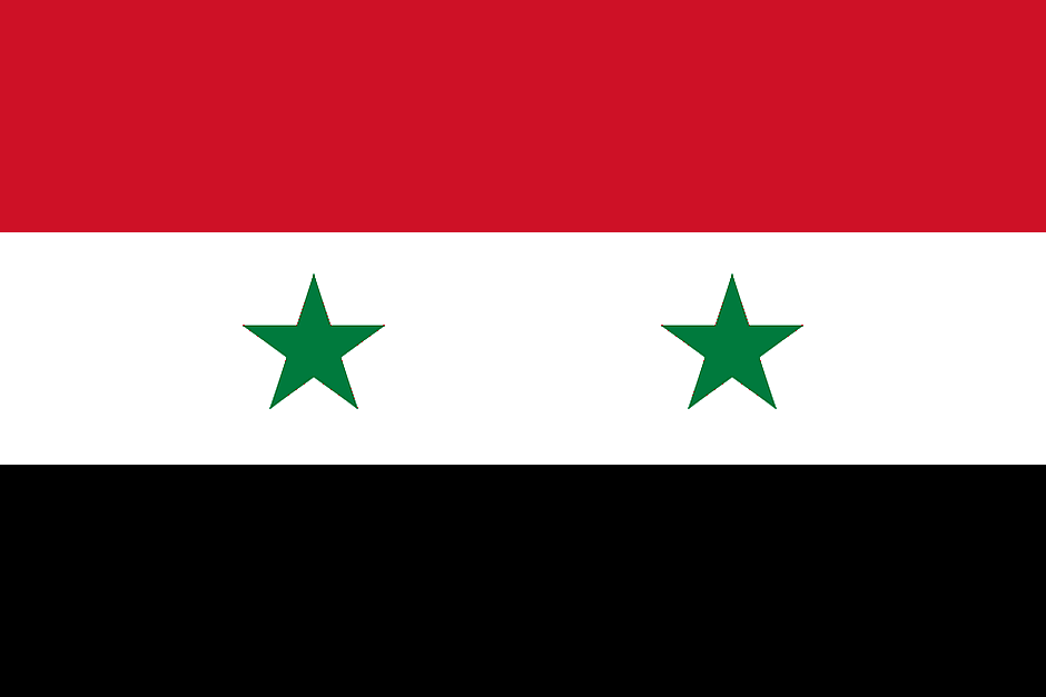 Flagge Syriens - By see below (see below) [Public domain], via Wikimedia Commons
