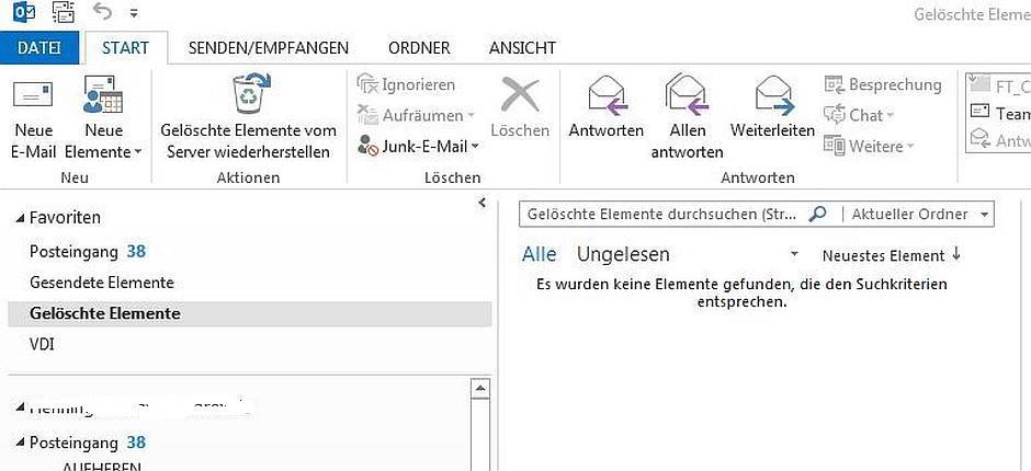 Outlook: Anhänge können nicht gespeichert werden