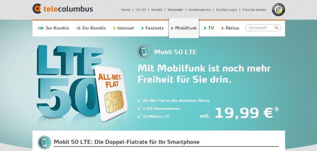 TeleColumbus-Mobilfunk-Angebot