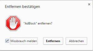 AdBlock deinstallieren