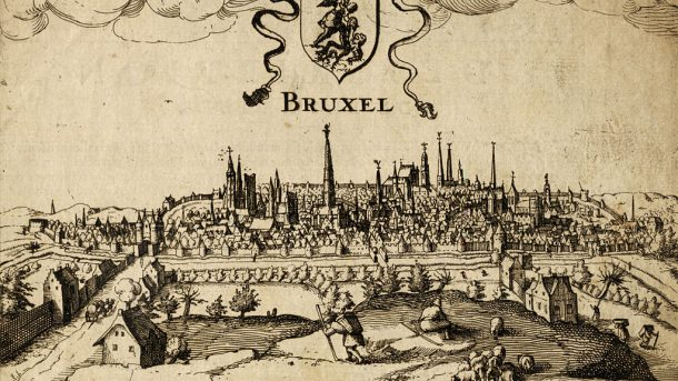 Stadtansicht von Brüssel aus dem Jahr 1610 - By Guywets (Private collection) [Public domain], via Wikimedia Commons