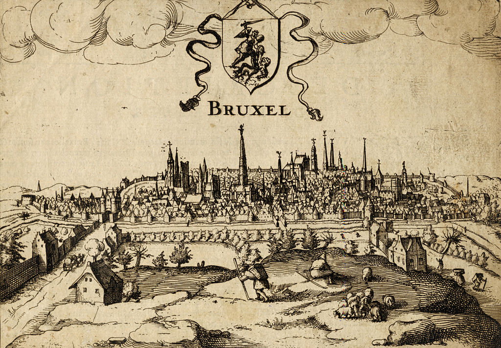 Stadtansicht von Brüssel aus dem Jahr 1610 - By Guywets (Private collection) [Public domain], via Wikimedia Commons